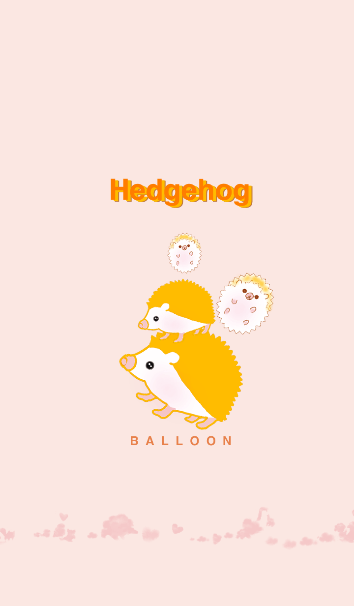 Hareruki of lovely Hedgehog balloon 2