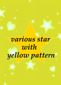Various star with yellow pattern