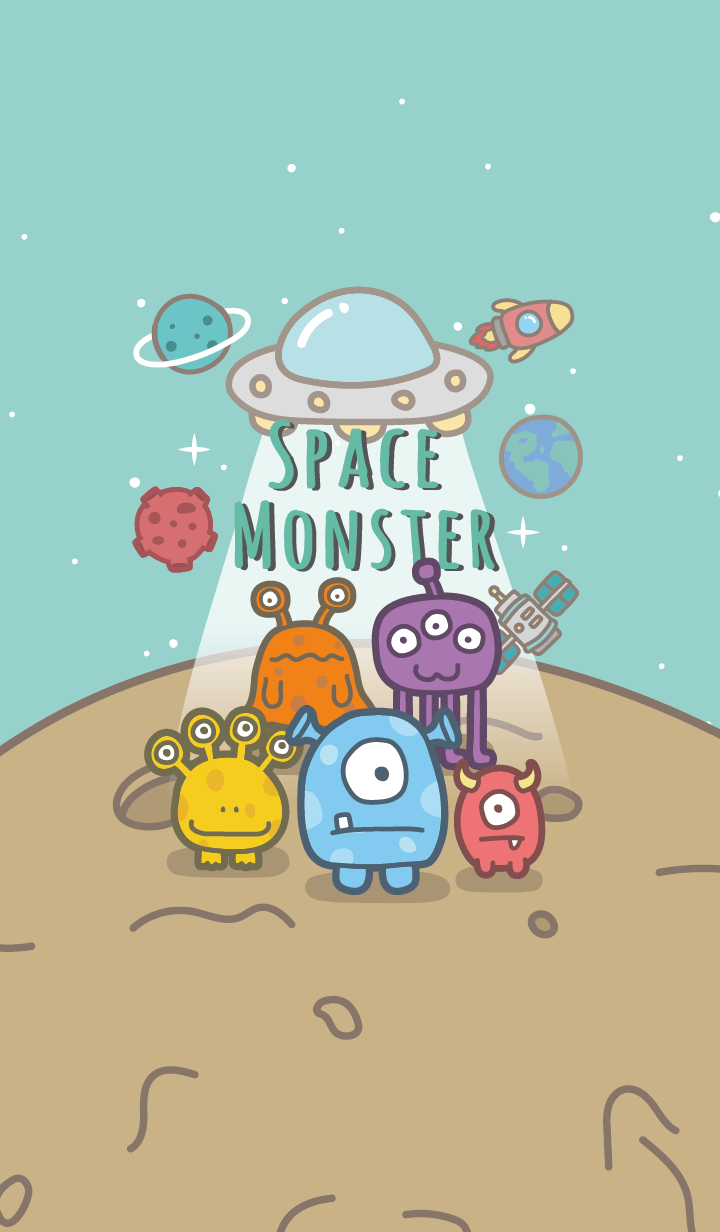 Space Monster #green