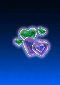 Heart Bubble Blue Purple