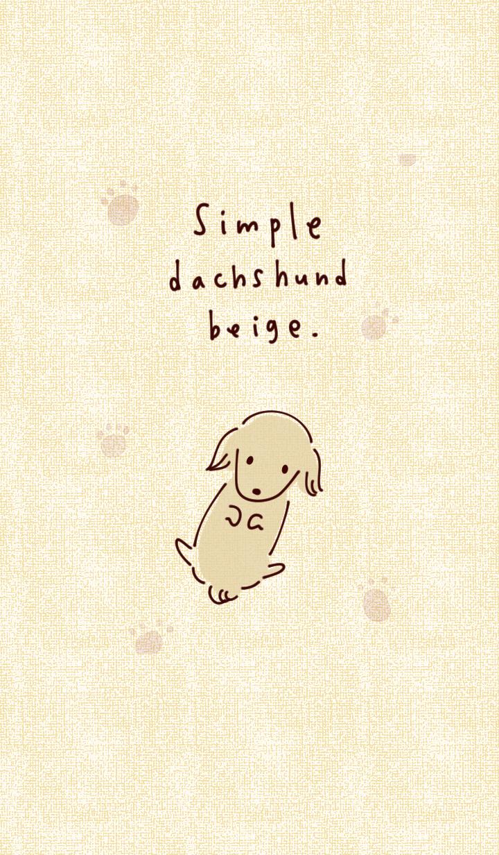 Simple dachshund beige