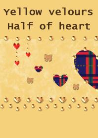 Yellow velours(Half of heart)