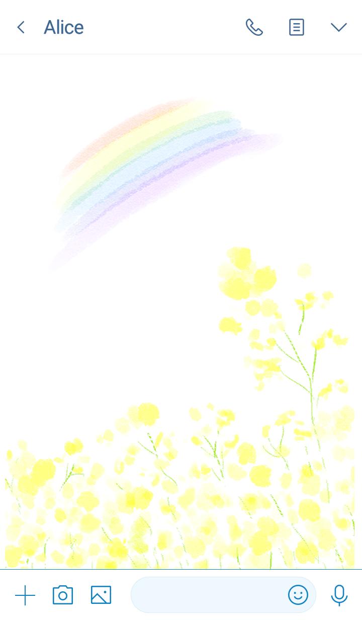 Canola flower and Rainbow