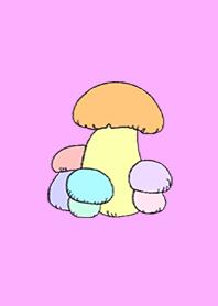 Mushrooms growing larger