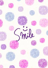 Watercolor Polka dot purple...