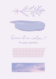 emo iro color _purple palette._