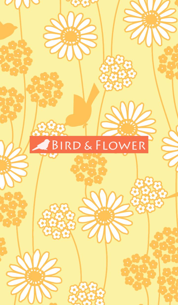 鳥和花/黃 19