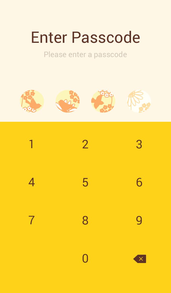 Bird&Flower/yellow 19