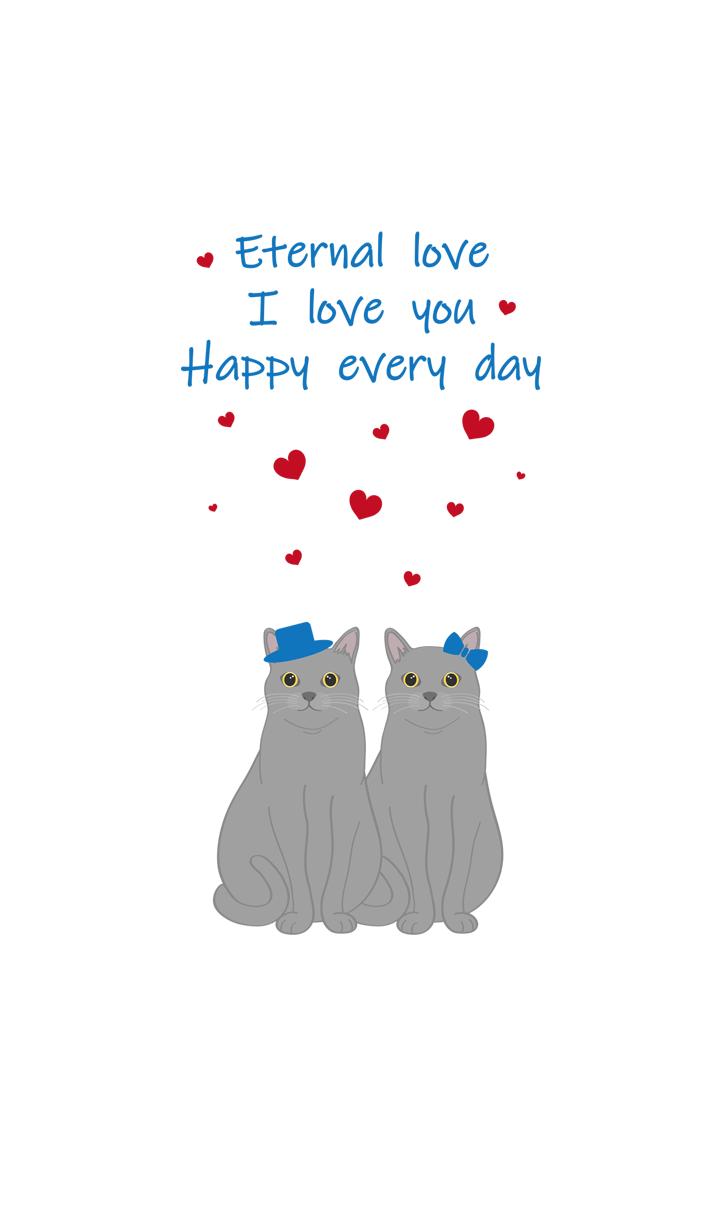 발렌타인 데이(회색 고양이)