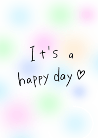 It's a happy day