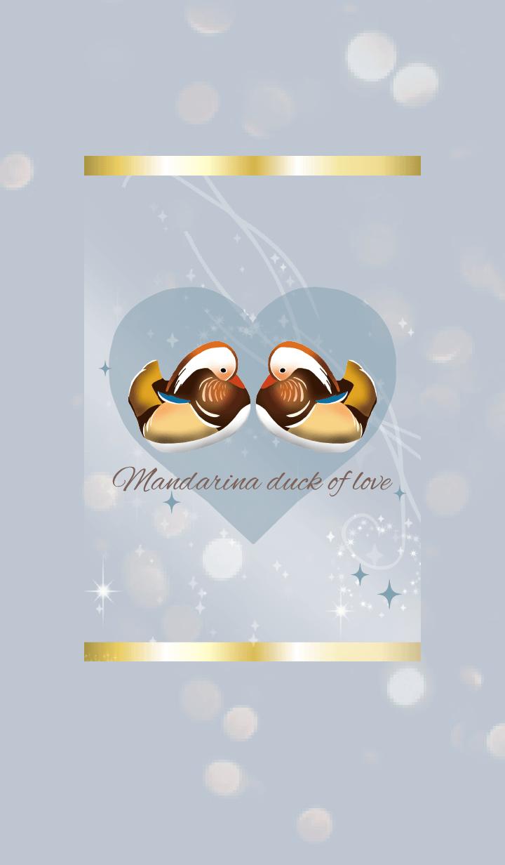 Beige Blue / Love Luck UP Mandarin Duck