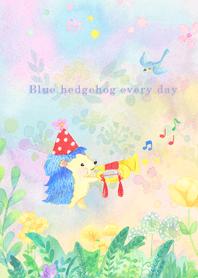 Blue hedgehog every day