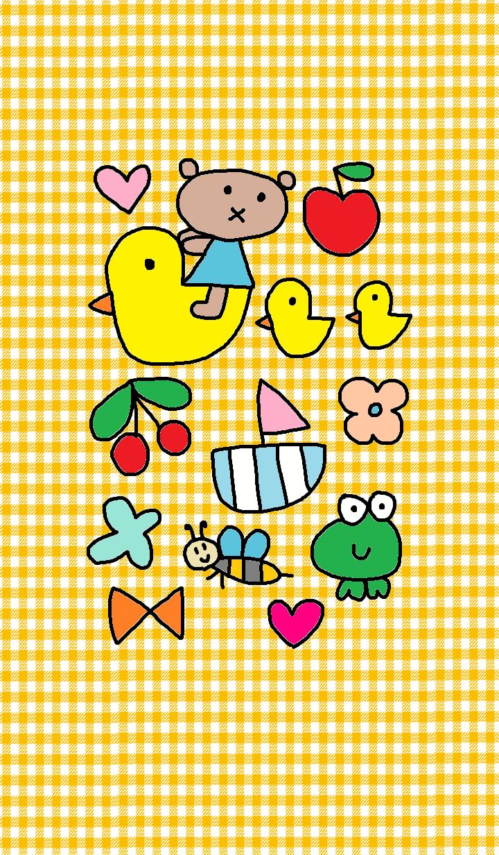 LILO & duck yellow