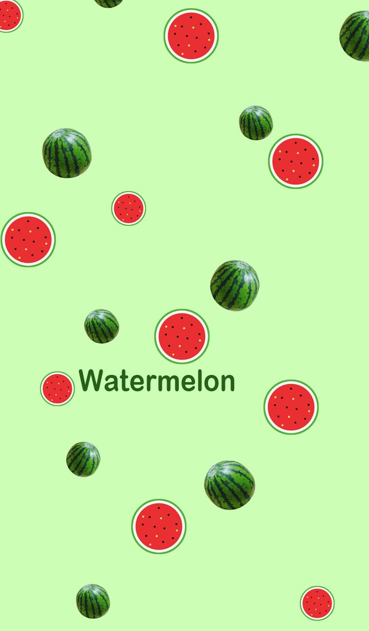 Pop and cute watermelon