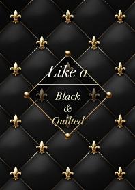 Like a - Black & Quilted *Fleur-de-lis