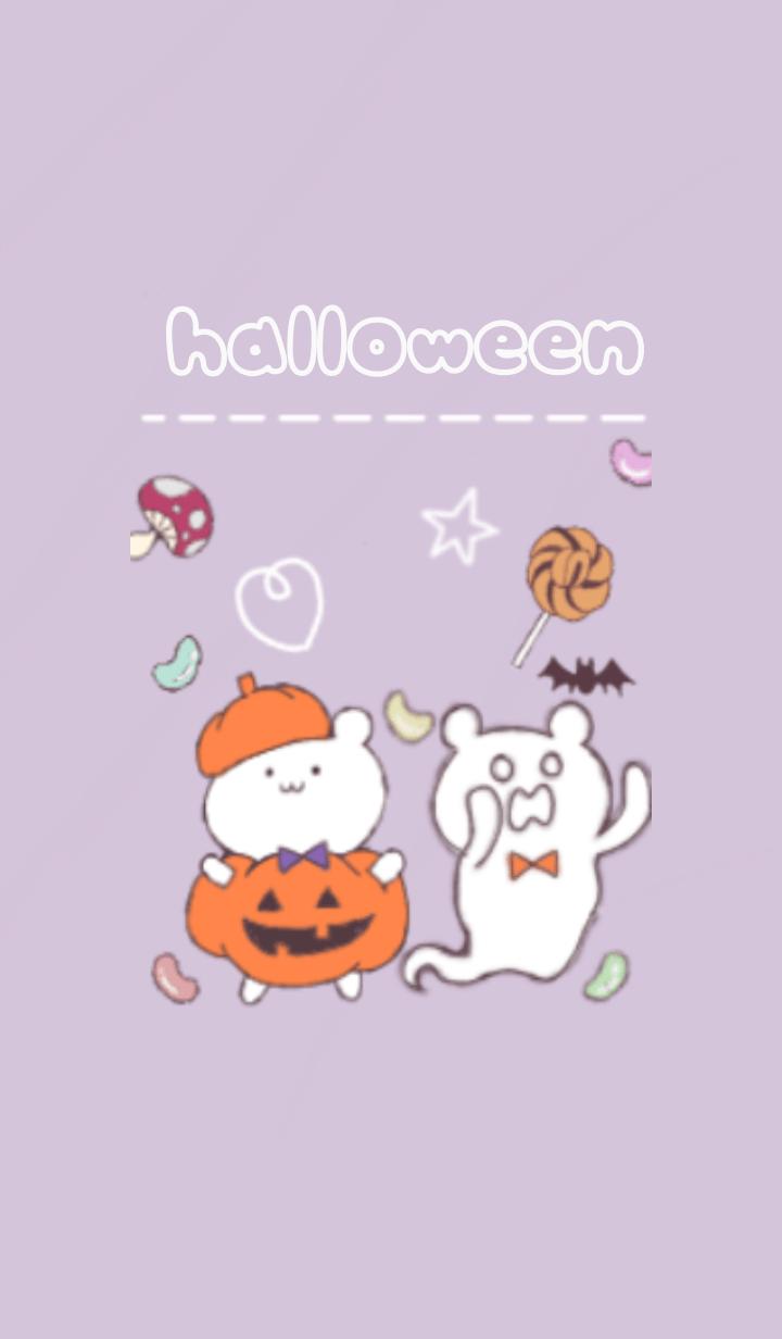 kumajiro with halloween