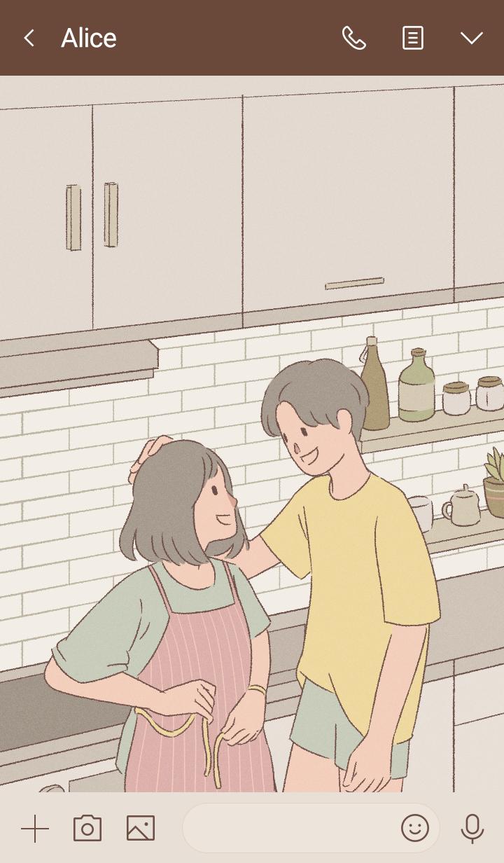 かわいいカップル : 愛について