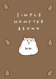 簡單的 倉鼠 棕色的