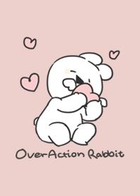 Over Action Rabbit -Pink beige-