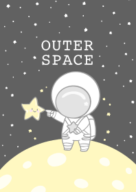 Astronaut and Star : Outer Space