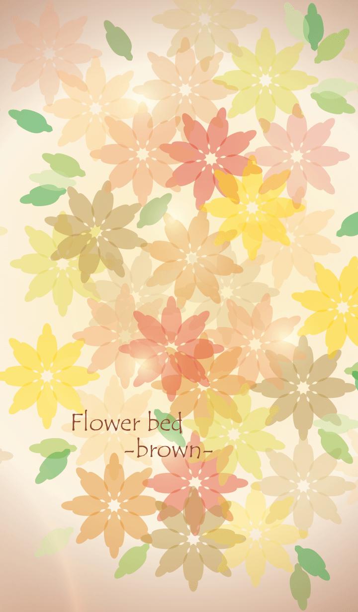 Flower bed -brown-