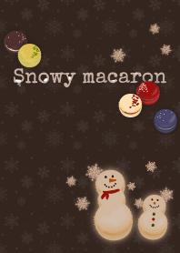 Macaron snowman + brown
