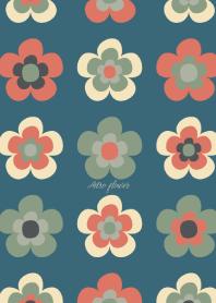 Retro flower - PINK BLUE -