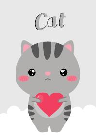 Simple Cute Gray Cat V.2