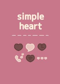 SIMPLE HEART - Cassis&Chocolate milk -