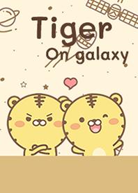 Tiger on galaxy
