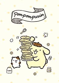 ธีมไลน์ ปอมปอมปูริน แพนเค้ก
