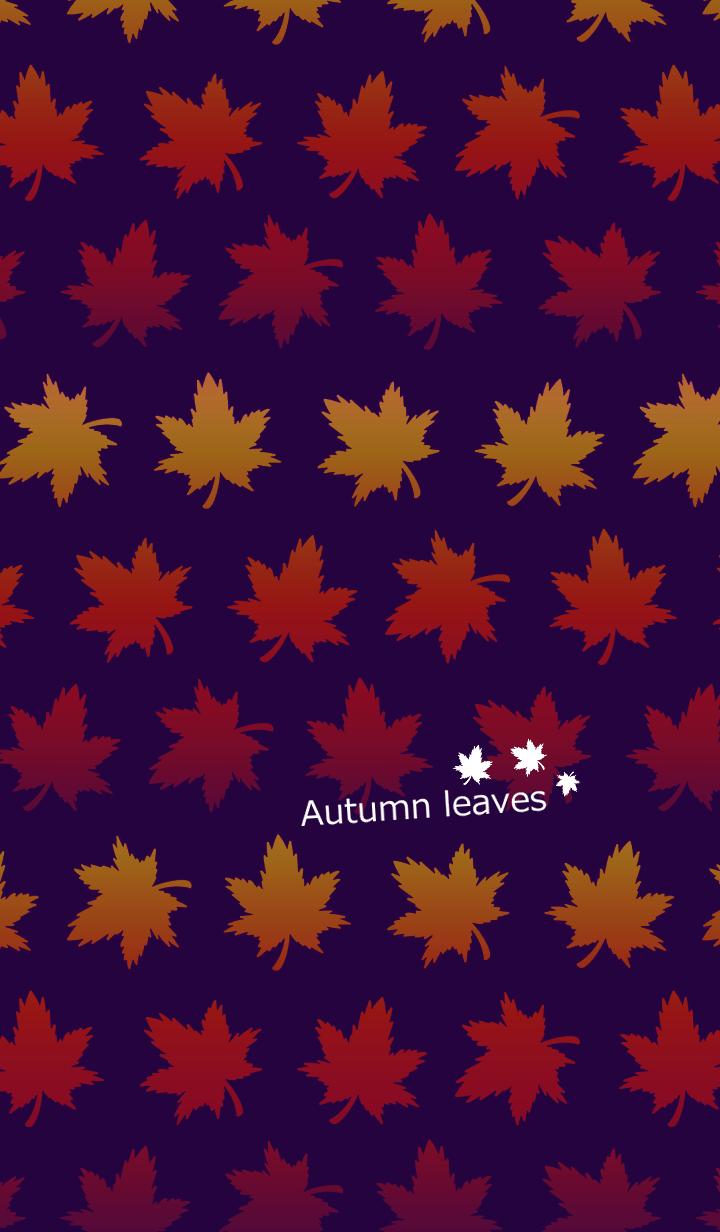 Gradation autumn leaves