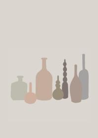 瓶/簡約/米色