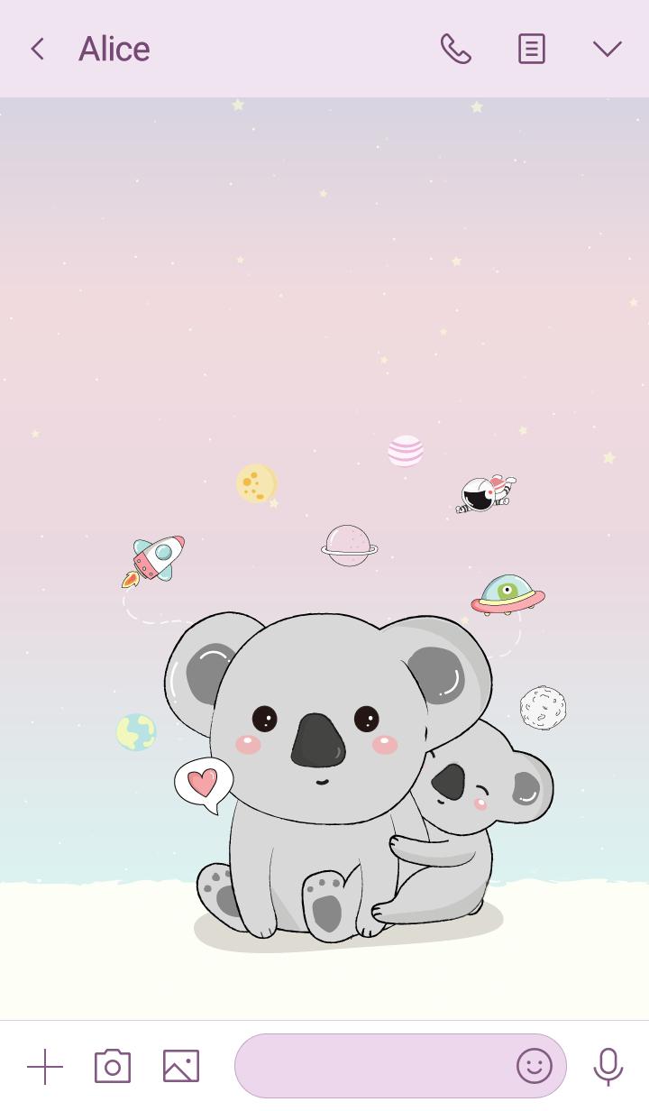 We love Koala (Pastel)