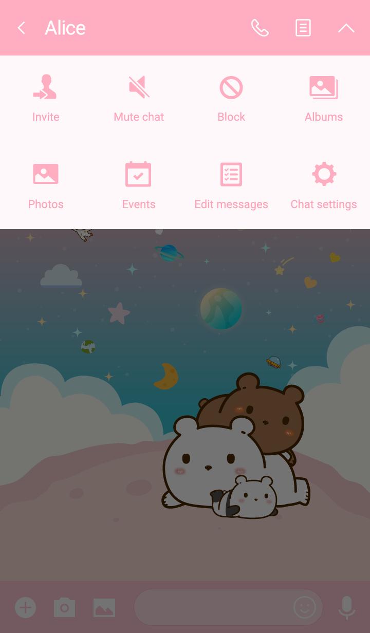 Baby Bears Galaxy Kawaii