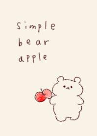 簡單 熊 蘋果 米色