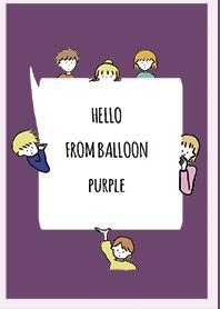 Purple 3 / hello from balloon