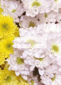 Happy Flower -WHITE YELLOW- 22