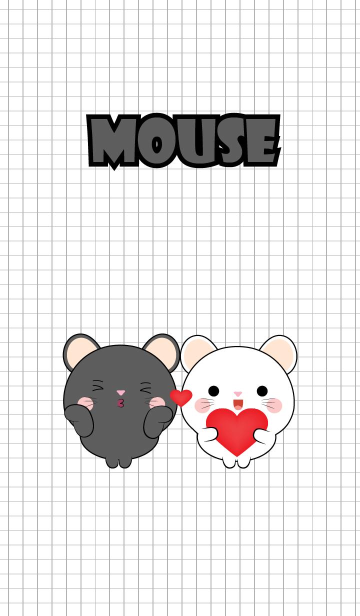 Mini Cute Black Mouse & White Mouse (jp)