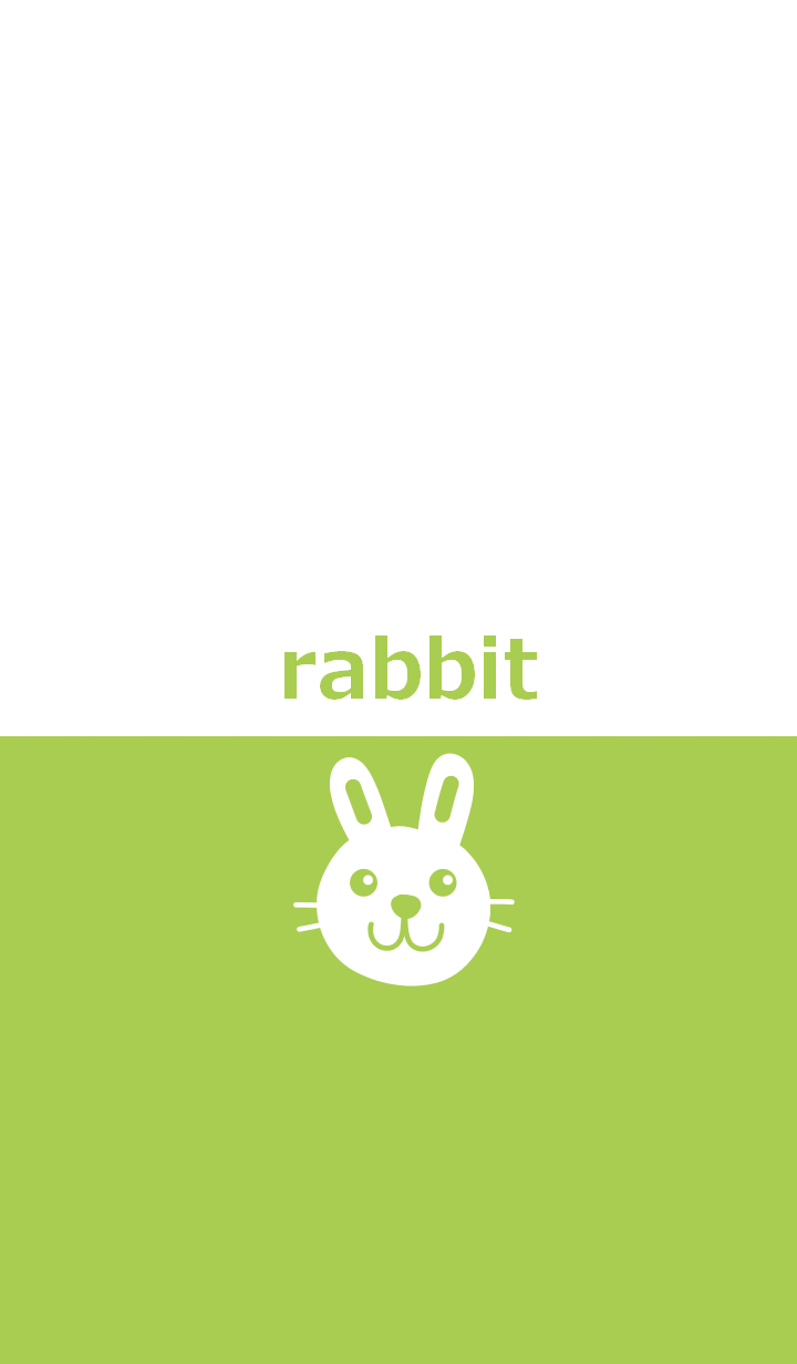 Two color and rabbit from japan