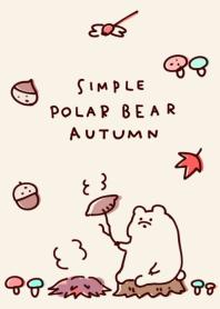 Simple polar bear autumn