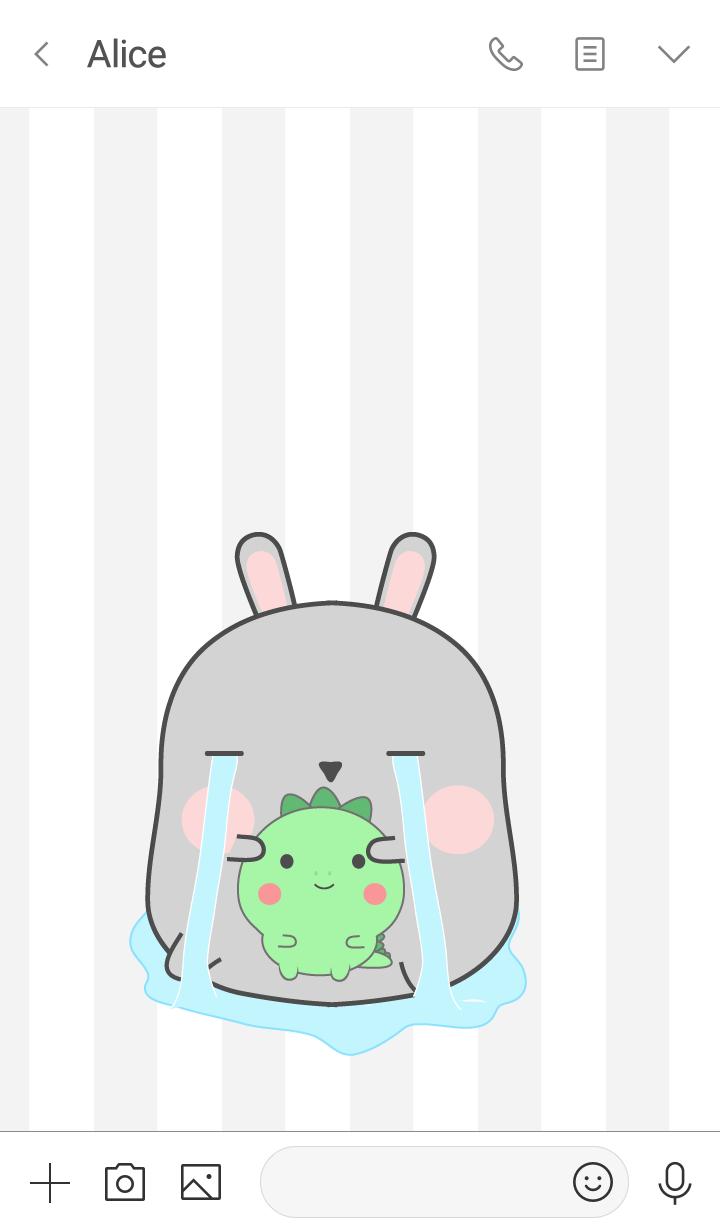 Oh! I'm Cute Grey Rabbit