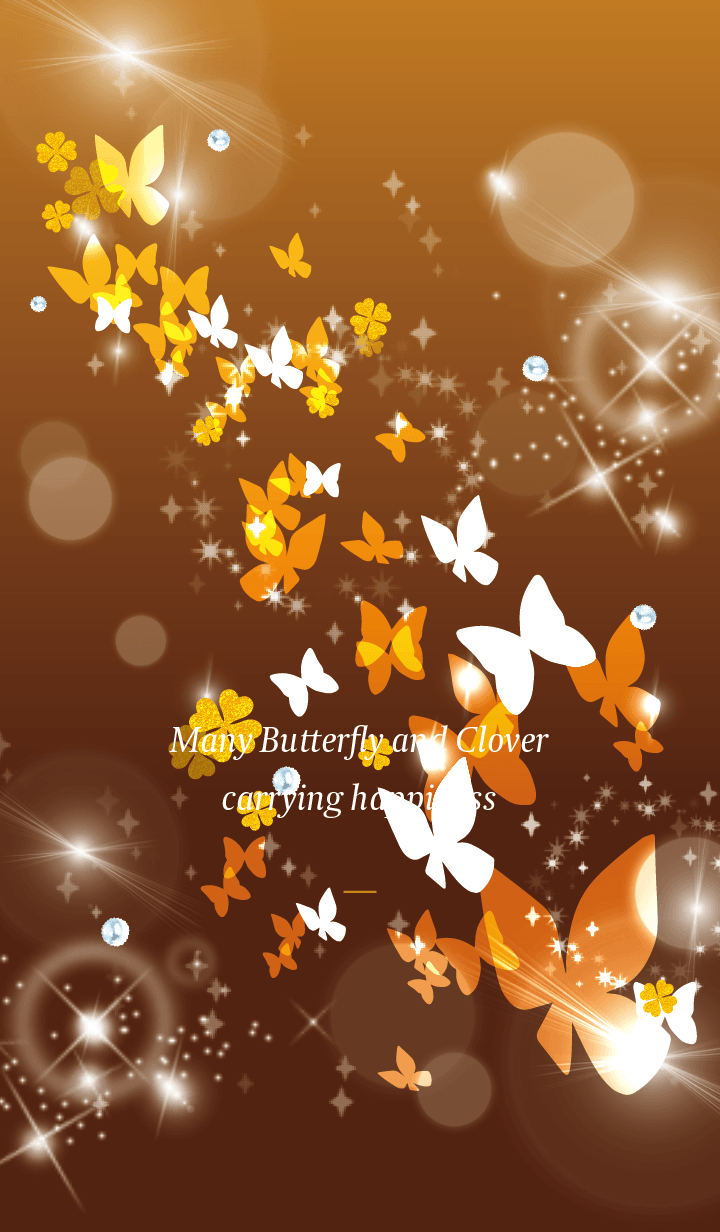 Orange : Lucky butterfly & clover