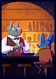 深夜裡的可愛動物酒吧
