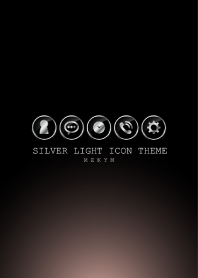 SILVER LIGHT ICON THEME -RETRO PINK-