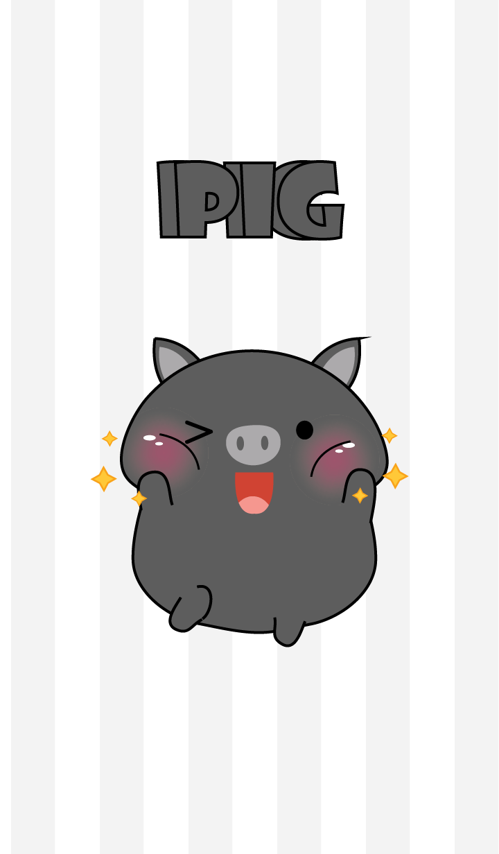 Oh! I'm Cute Black Pig