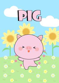 Happy Cute Pig Land Theme