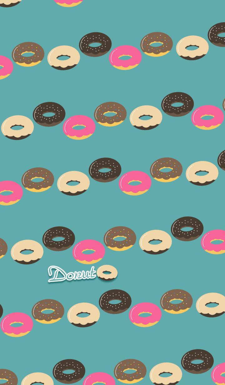 Donut -Blue green-