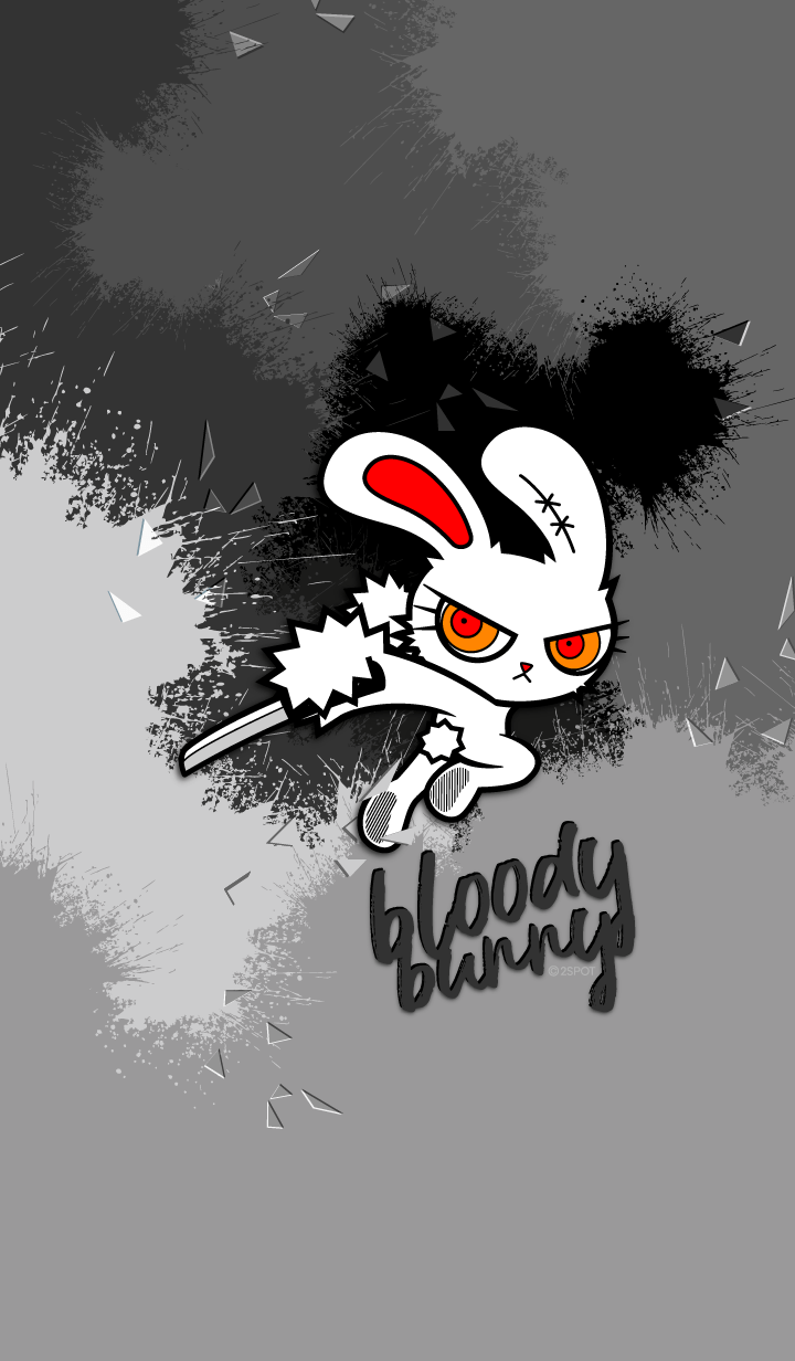 Bloody Bunny : Splash Gray