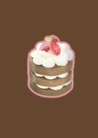 Cute strawberry pancake